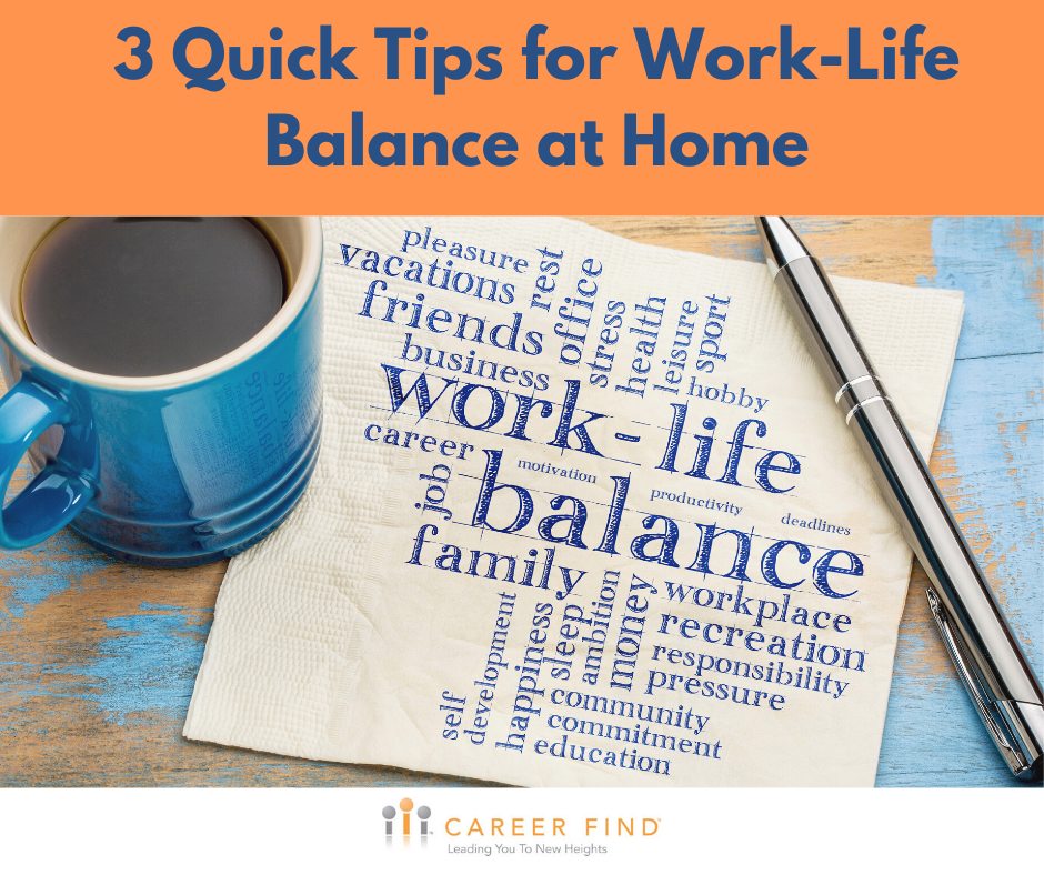 3 Tips for Work-life balance