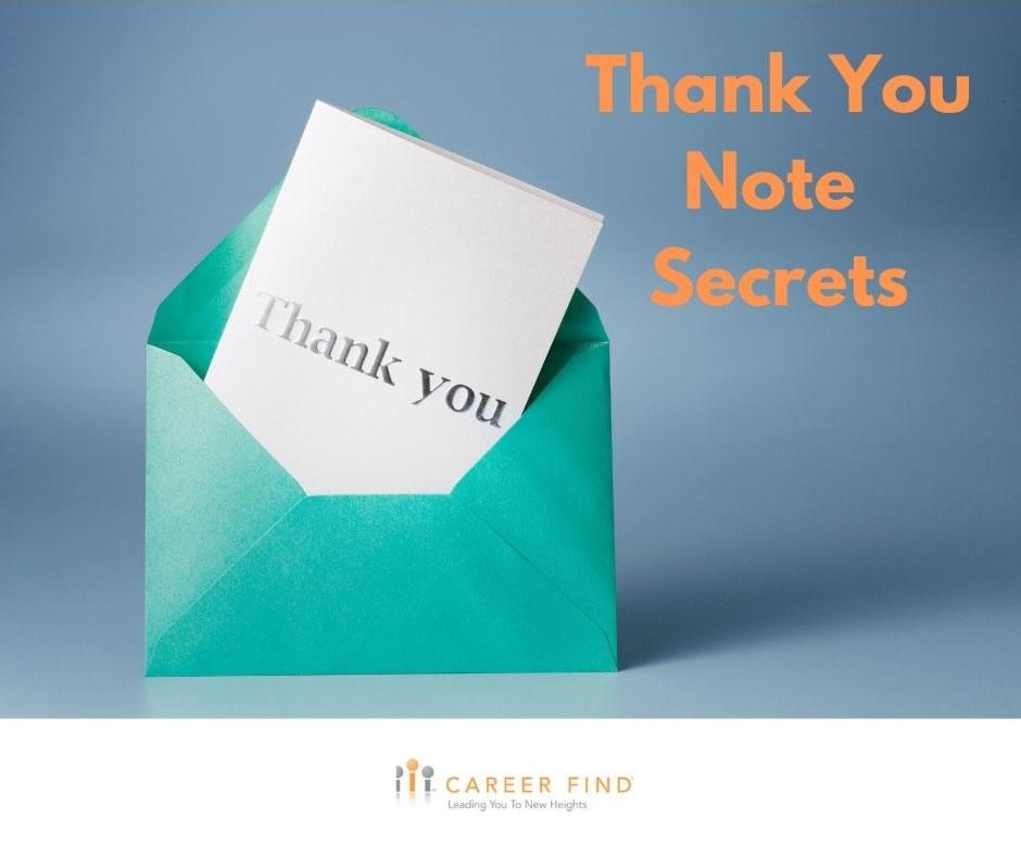 Thank you note secrets